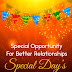 Special Days: Special Opportunity for Better Relationships