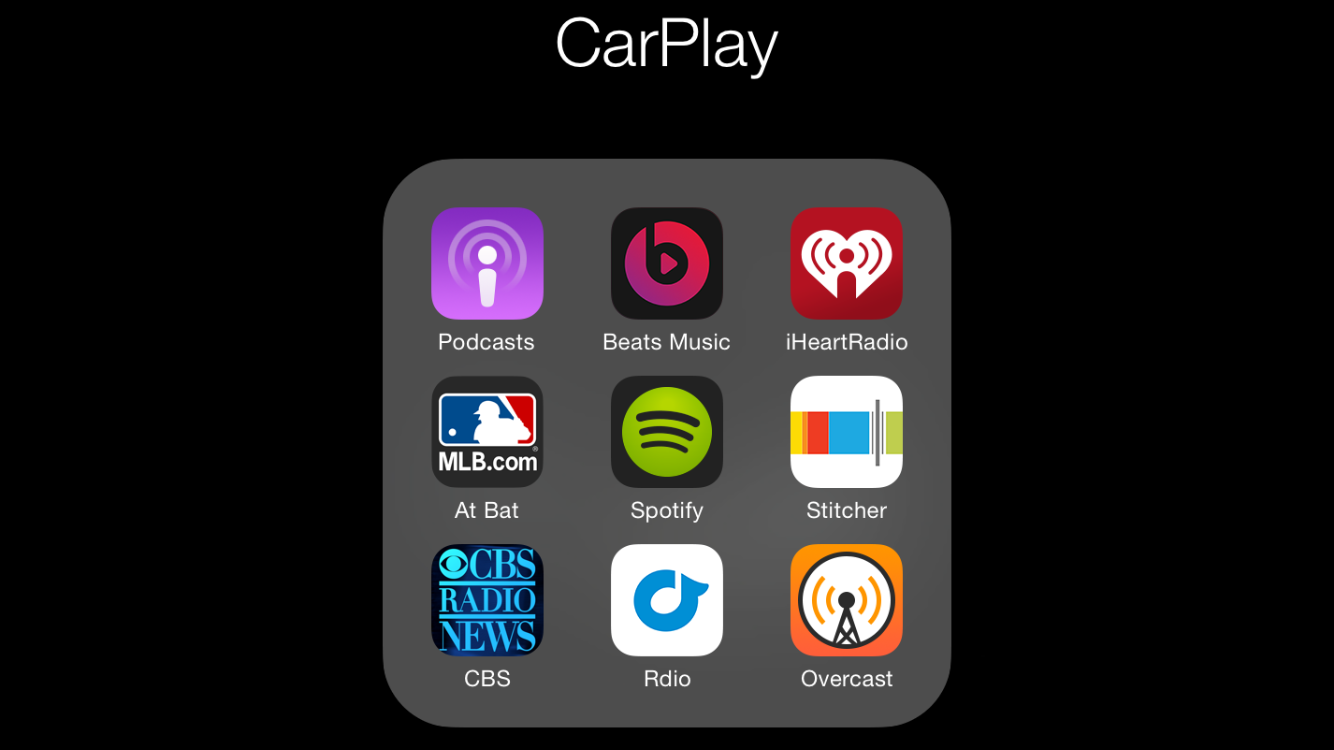 appradioworld apple carplay android auto car technology news overcast podcast player adds. Black Bedroom Furniture Sets. Home Design Ideas