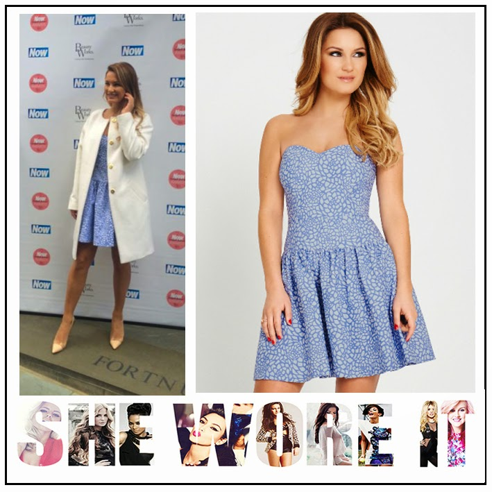All Over Print, Bustier Prom Style, Detachable Straps, Dress, Feel Good Fashion Awards, Gathered Skirt, Jacquard, Now Magazine, Samantha Faiers, TOWIE, Very,