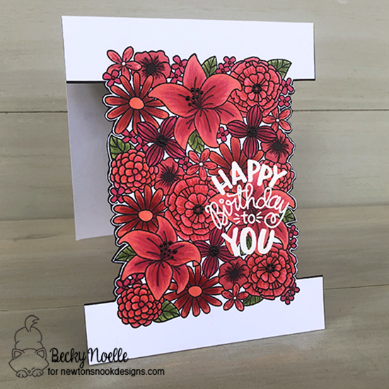 Happy Birthday to you by Becky features Blooming Botanicals and Uplifting Wishes by Newton's Nook Designs; #newtonsnook