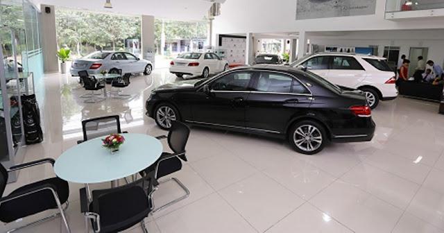 Mercedes Nha Trang thiết kế showroom hiện đại