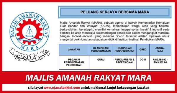 jawatan kosong 2019 majlis amanah rakyat