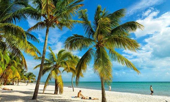 Praia em Key West na Flórida