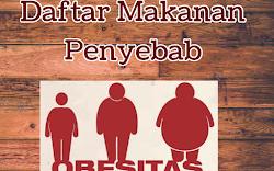 Daftar makanan penyebab obesitas