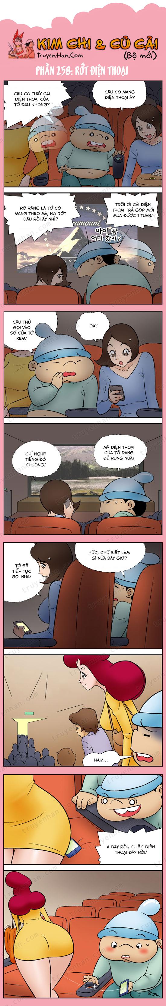 Kim Chi & Củ Cải (bộ mới) phần 258: Rớt điện thoại