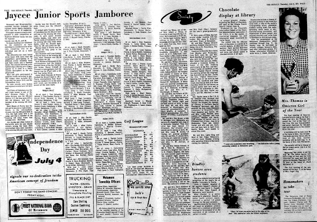 Metamora Herald Sports & Society July 1973, Metamora Herald