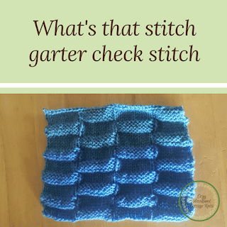 Picture of what's that stitch garter check stitch
