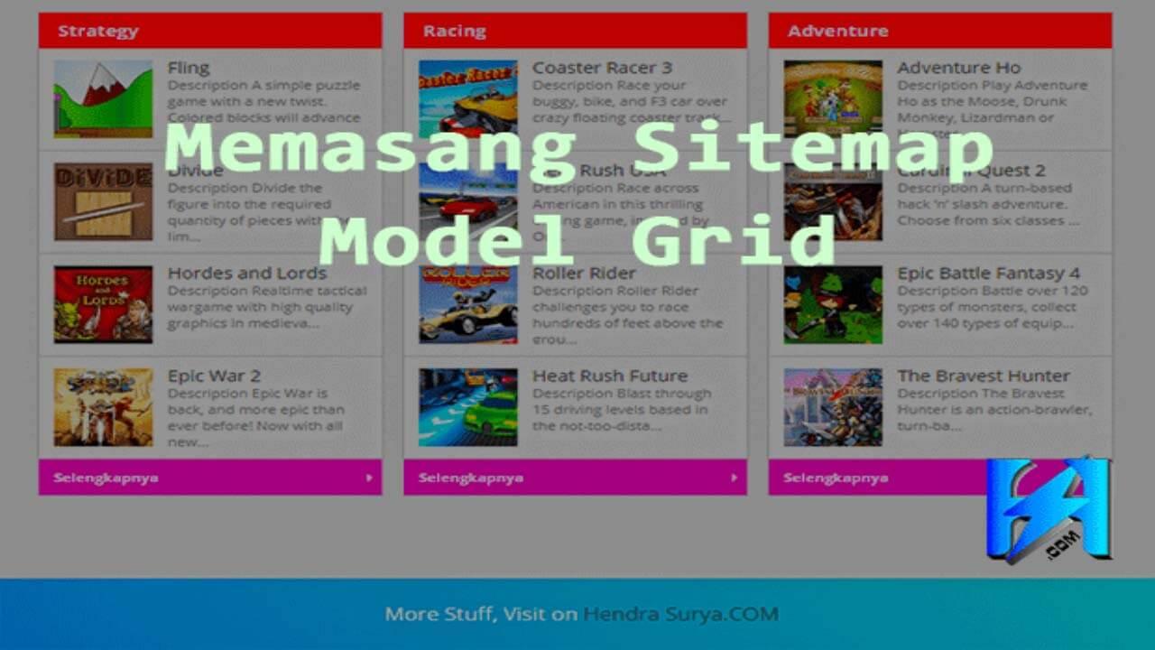 Sitemap Grid Ala Kang Ismet