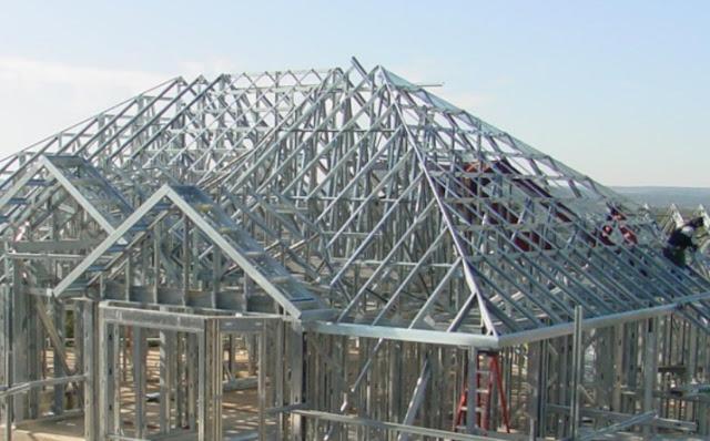 pemasangan rangka atap baja ringan galvalum