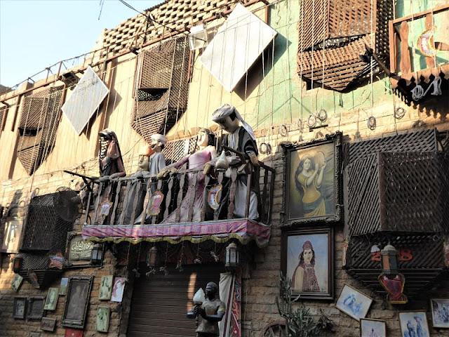 le marionette nel suq di Khan el Khalili