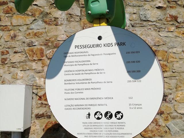 Placa Pessegueiro Kids Park
