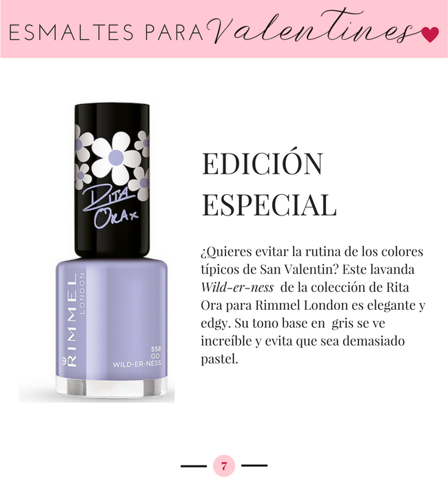 Rimmel London Go Wilderness, Esmaltes para San Valentin