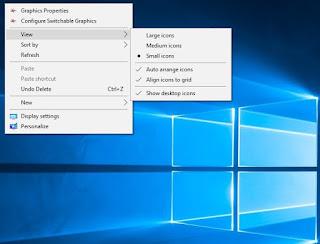 Mengatur icon layar desktop
