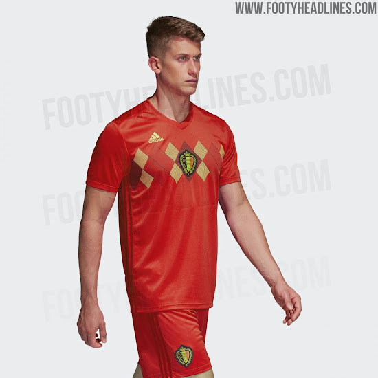 9ff0c8764 Belgium 2018 World Cup Home Kit Released - Footy Headlines