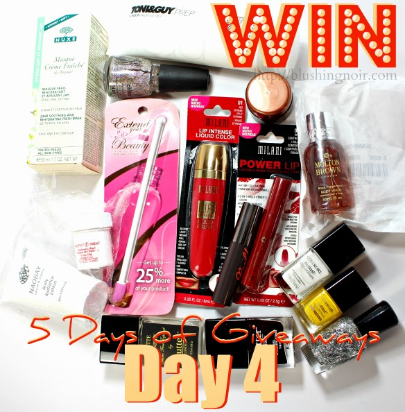 http://www.blushingnoir.com/2014/12/5-days-giveaways-day-4/