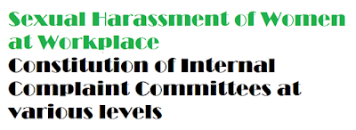 School Education Department – Sexual Harassment of Women at Workplace (Prevention, Prohibition and Redressal) Act 14 of 2013 – Constitution of Internal Complaint Committees at various levels ,Rc.453,