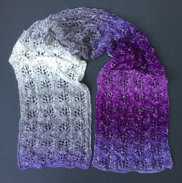 Hand Made Rukodelky Purple Rain Lacy Scarf