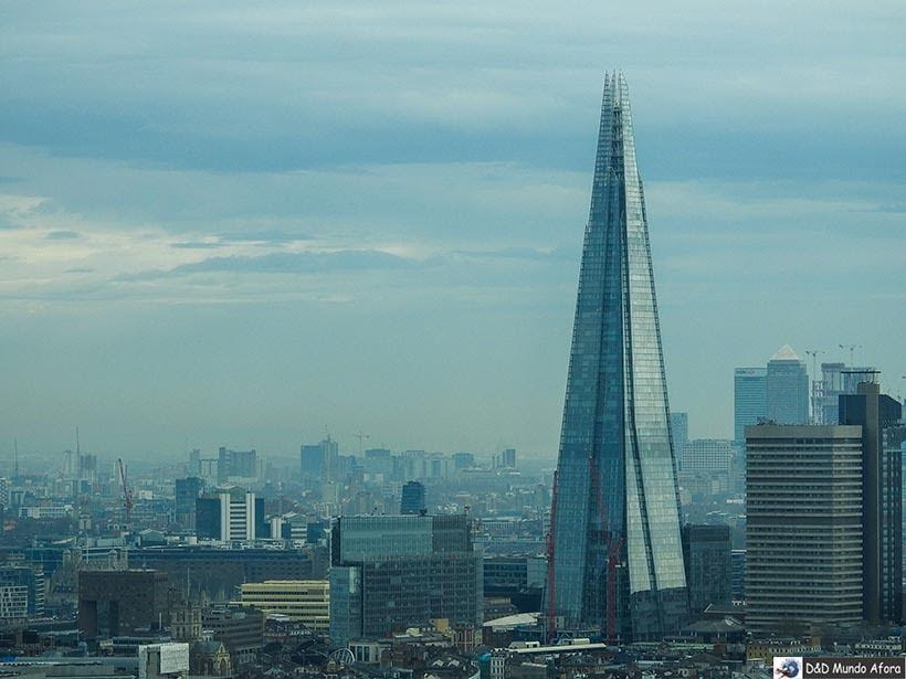 The Shard visto da London Eye: como visitar a roda-gigante de Londres