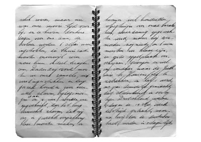 image from  Snapshots by Corina Duyn, of diary page by Jan Duyn