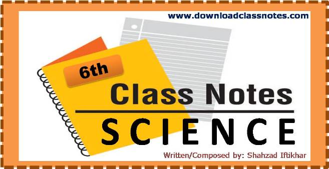 6th Class General Science Notes for Islamabad Model Schools and Colleges