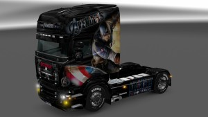 Scania RJL The Avengers skin mod