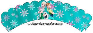 Wrappers para cupcakes de Frozen Fiebre Congelada.
