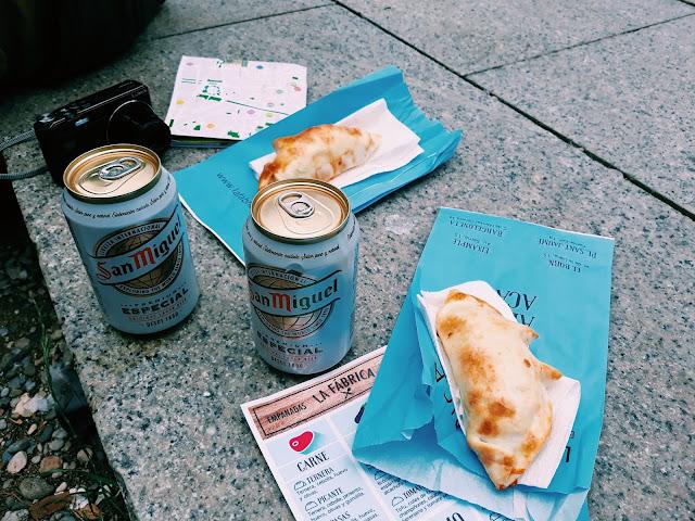 Piwo i jedzenie w Barcelonie
