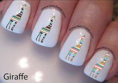Giraffe Nail Decal