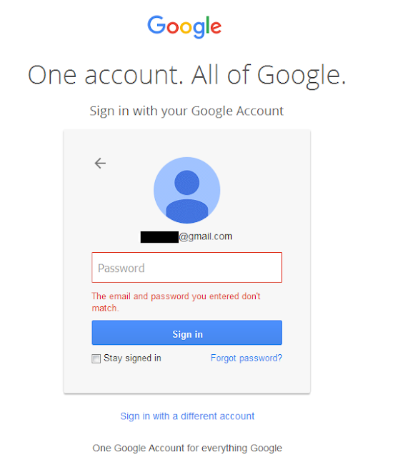 Gmail password recovery Finland