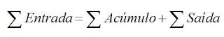 equação do balanço de massa com acumulo