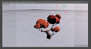 Menggunakan Move Tool untuk memposisikan Light Object