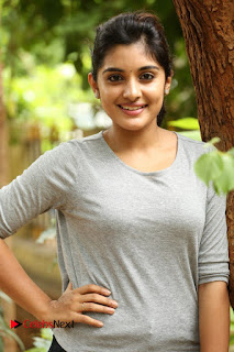 Actress Niveda Thomas Pictures in Black Jeans at Gentleman Movie Interview  0123
