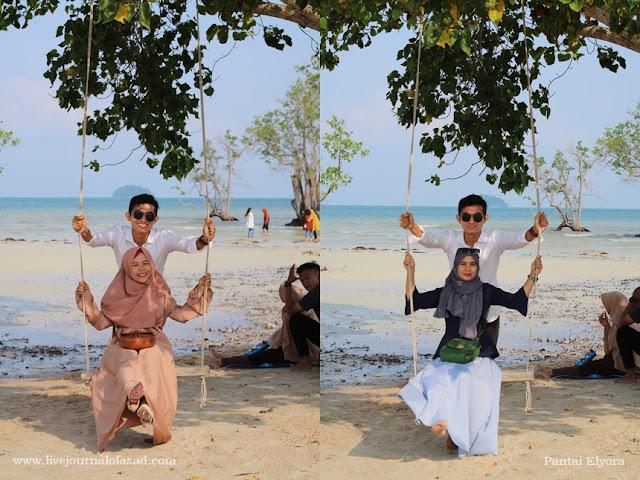 Menikmati Pasir Putih di Pantai Elyora Barelang Batam