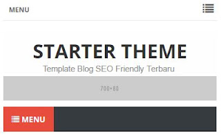 Cara Membuat Menu Responsive di Atas Header Blog plus Media Sosial