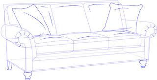 Teknik Mudah Menggambar Kursi Sofa