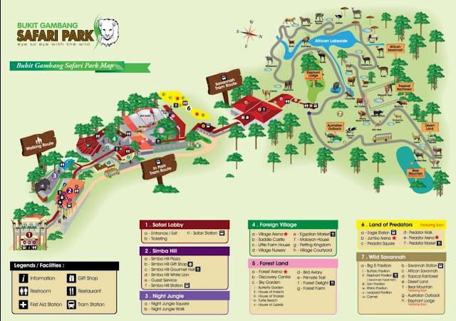 peta Bukit Gambang Safari Park