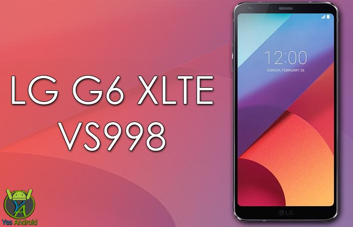 LG VS998 G6 XLTE / VS998B / VS998G / VS998P / VS998T / VS998W