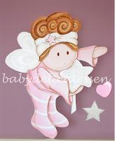 silueta de madera para decoración infantil hada ricitos babydelicatessen