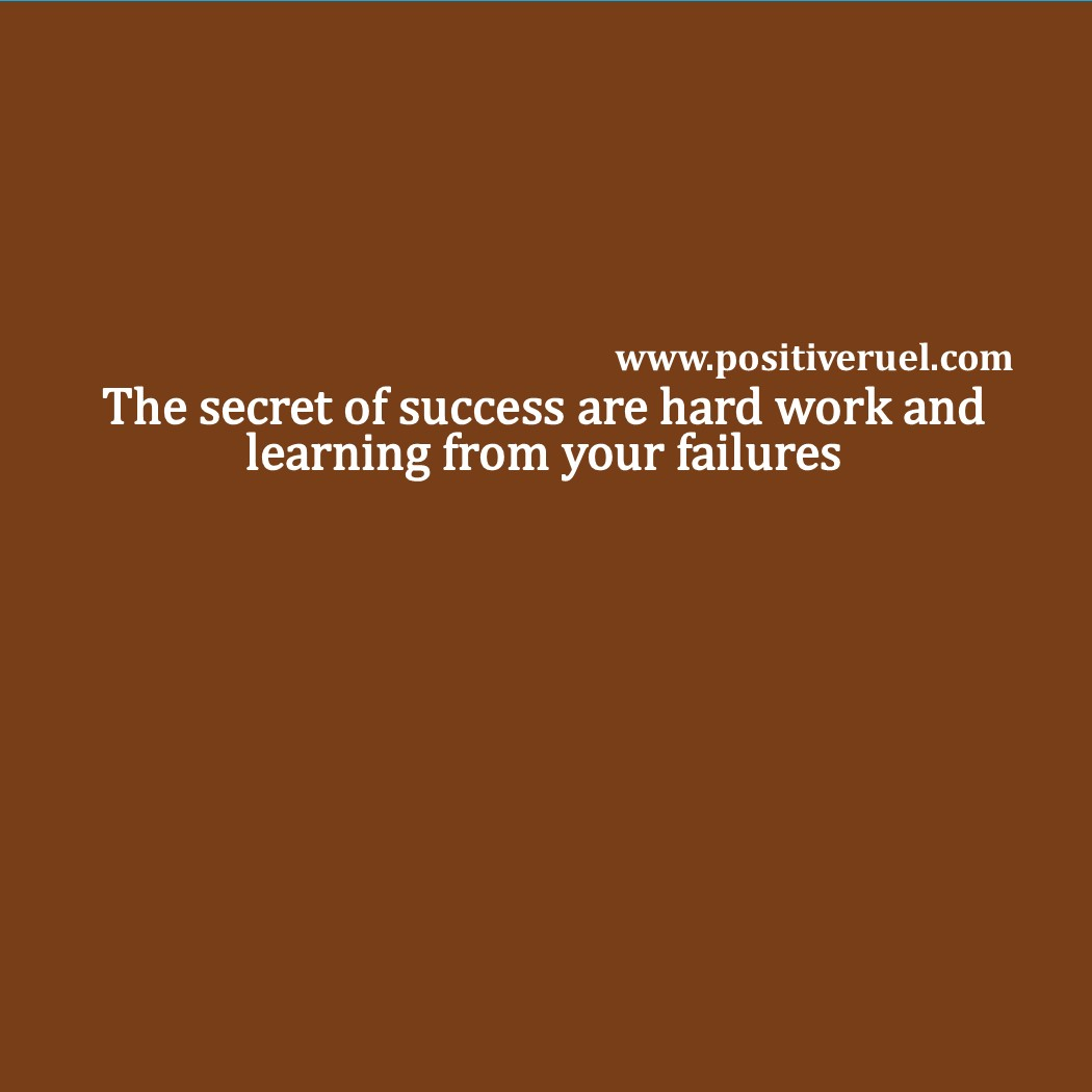 Inspirational Quotes - The secret of success are hard work and ...