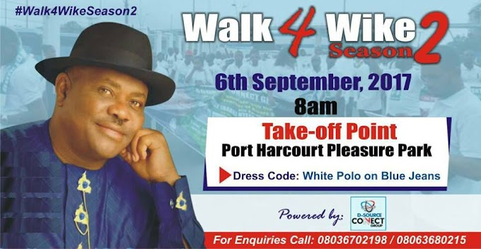 Walk 4 Wike Season 2 sets to take off today, Powered by D-Source connect group