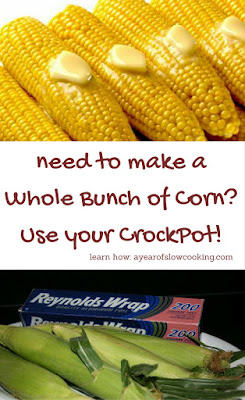 feed the whole family at one time! Steam corn perfectly. You can use foil or not.
