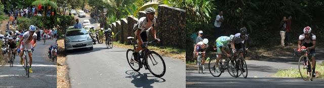 Tanjakan ekstrim di rute Ijen dalam International Tour de Banyuwangi Ijen.