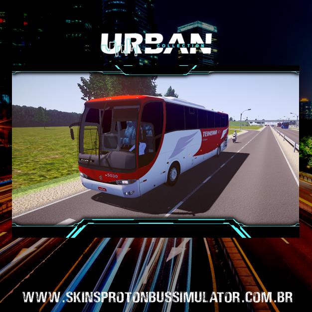 Skin Proton Bus Simulator - G6 1050 MB O-500R 4X2 Viação Teixeira