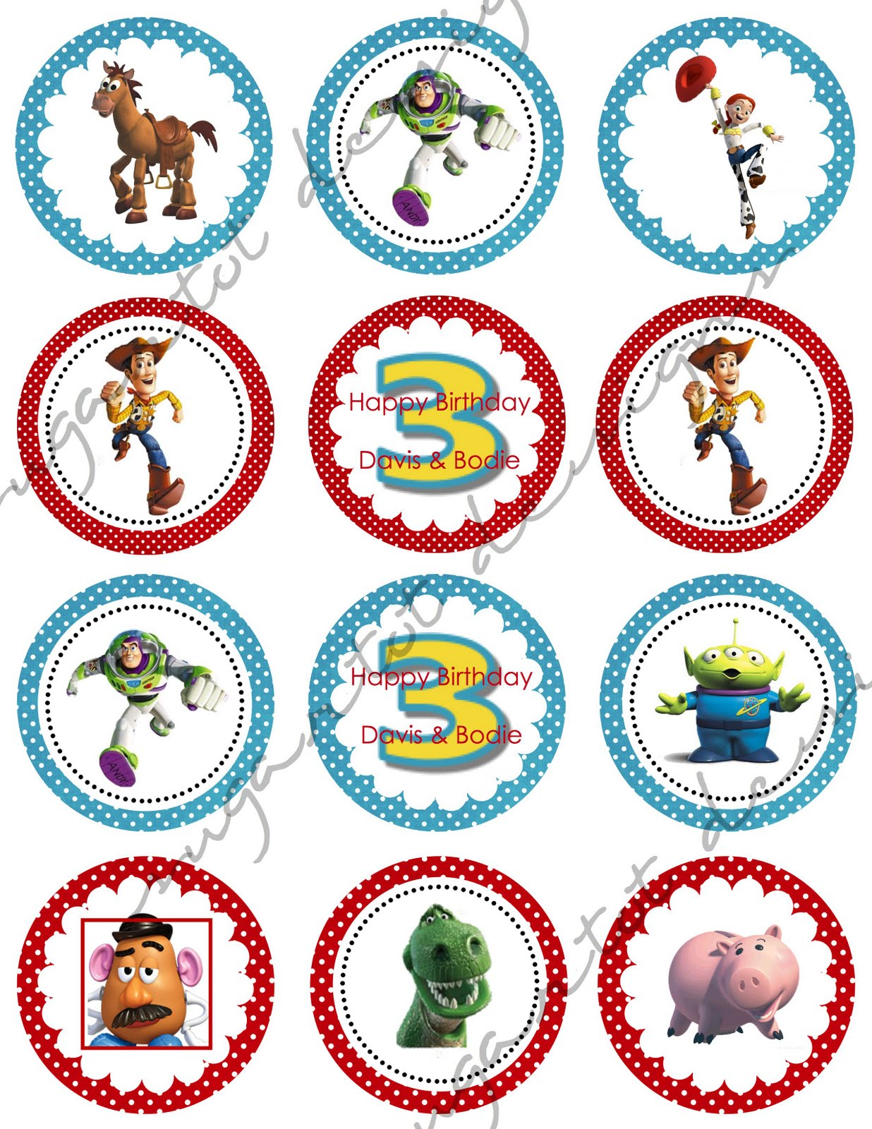 Sugartotdesigns Toy Story 3 Party Invitations Amp Cupcake