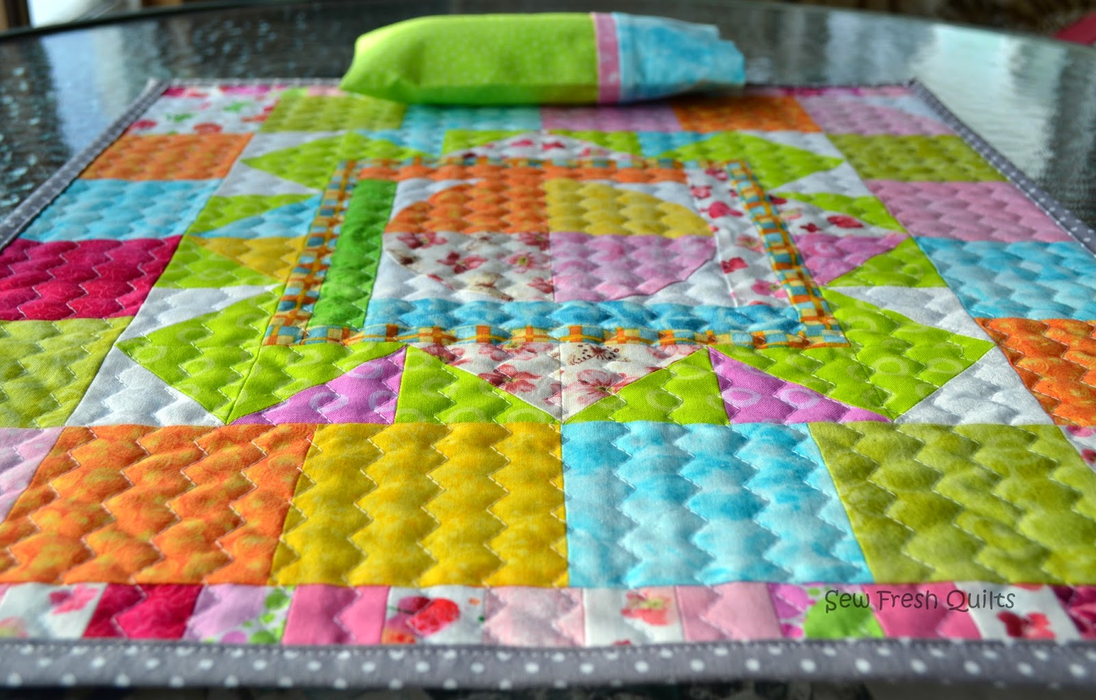 Sew fresh quilts top 10 tips for new quilters quilting with zig zag on medallion doll quilt jeuxipadfo Gallery