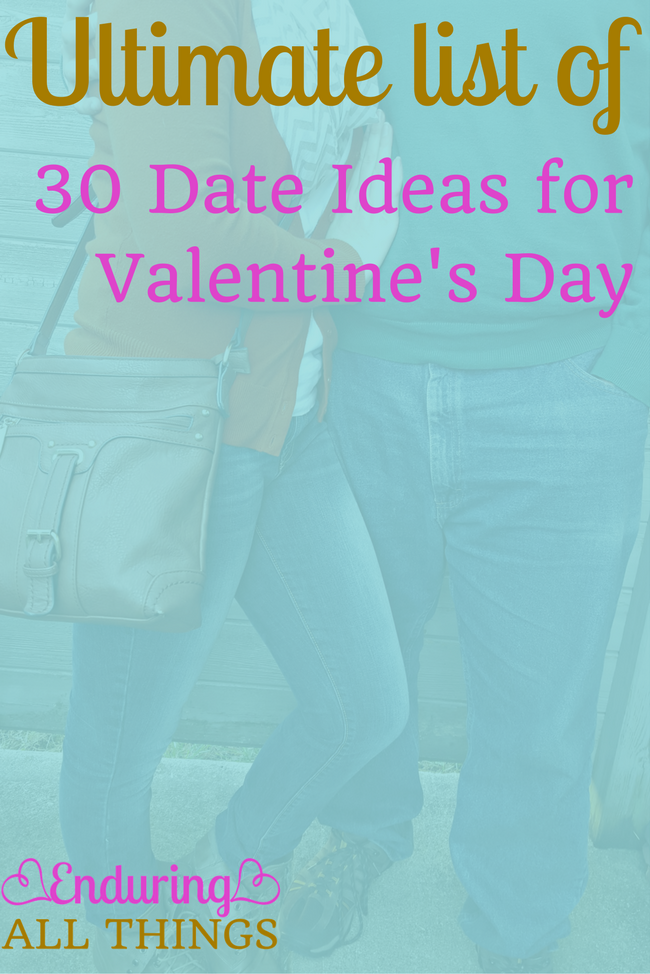 Great date ideas organized by category. Not just for Valentine's Day.