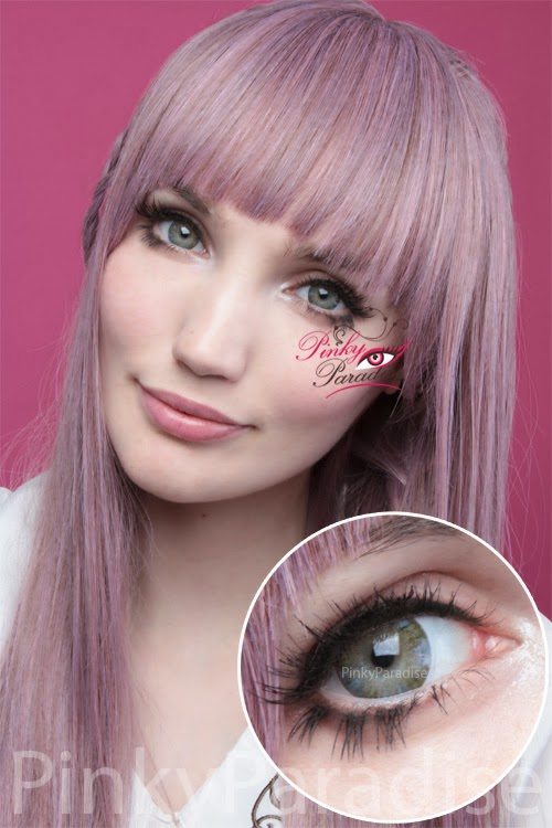 Vassen Rainbow Eyes Light Greenish On Light Eye - Circle Lenses & Colored Contacts | PinkyParadise