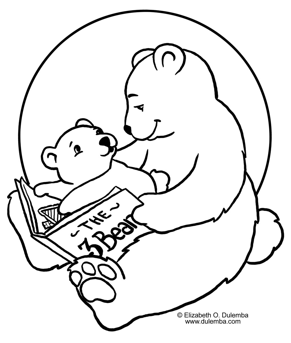 Coloring & Activity Pages: Storytime Bears Coloring Page
