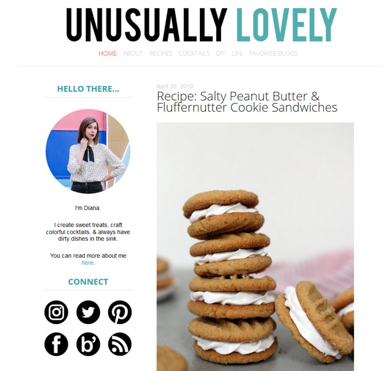 Unusually Lovely | Super cute blog design inspiring me right now!