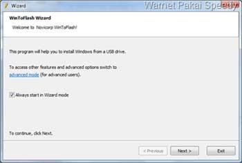 NEXT - cara install laptop yang tidak ada CDROM